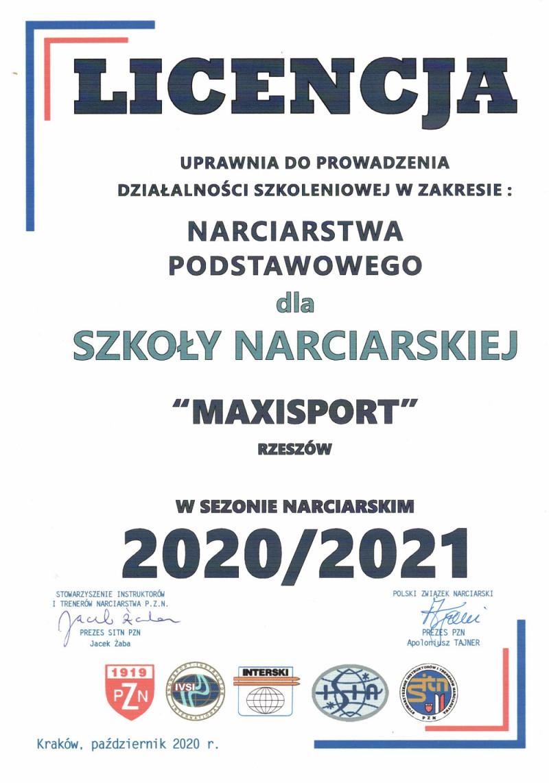 Maxisport Rzeszów Licencjonowana szkoła narciarska